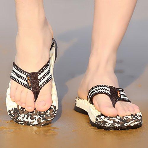 Xing Lin Sandalias De Hombre Nuevo Verano Flip Flop MenS Big Clip Pies Zapatillas De Playa Playa Zapatos Zapatilla De Avispa Sandalias Y Zapatillas brown
