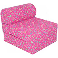 Children's Studio Chair Sleeper  Jr. Twin 24', Pink Flower