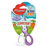 Maped Kidikut Safety Scissors Fiberglass Blades 4 3/4-Inch, Assorted Colors (037800)