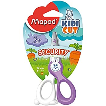 Maped Kidicut Safety Scissors 4.75 Inch, Assorted Colors (037800)