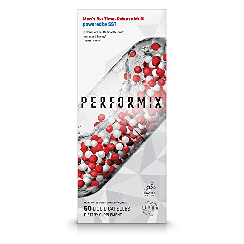 PERFORMIX Men's 8HR Time-Release Multi Powered by SST, Performance Multivitamin with SST, Free Radical Defense, Energy, Mental Focus- 60 Capsules