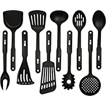 HULLR 10-Piece Nylon Kitchen Utensils Cooking Tool Set - Classic Black