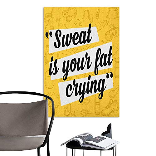 Retro Poster Decorative Painting Fitness Sweat is Your