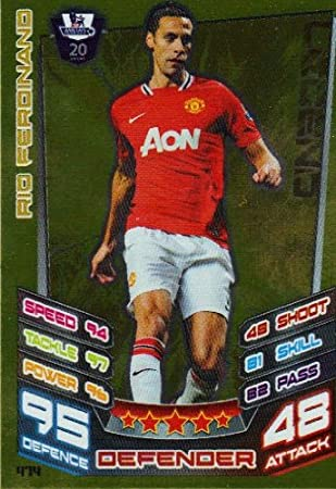 dde96396987 Match Attax 2012 2013 Legend Card - 474 Manchester United RIO FERDINAND   Amazon.co.uk  Toys   Games