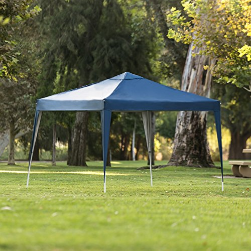 Best Choice Products 10x10ft Outdoor Portable Lightweight Folding Instant Pop Up Gazebo Canopy Shade Tent w/Adjustable Height, Wind Vent, Carrying Bag – ()