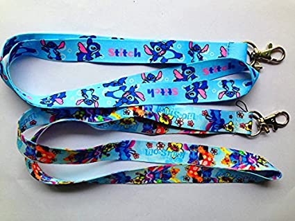 Set of 2 Lilo stitch Lanyard Key Chain Holder ~Lanyard~ (lilo stitch)