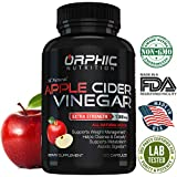 Organic Extra Strength 1300mg Apple Cider Vinegar Capsules   Detox Pills   Prevent Bloating, Non-Stimulating   Detox, Cleanse, Manage Weight & Improve Digestion   Men & Women   Pack of 60