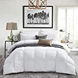 King Size White Goose Down Comforter,1000Thread Count 100% Egyptian Cotton Fabric, All Season Down Duvet Comforter 700+Fill Power King Size(106x90inches)