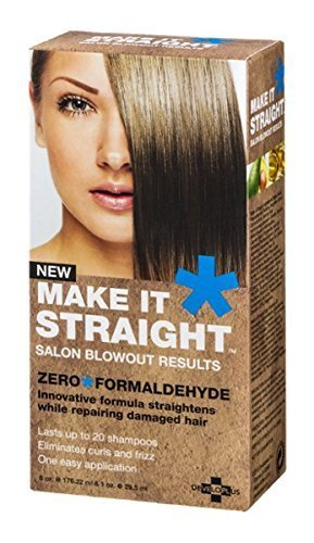 Developlus Make It Straight Salon Blowout Results 6oz & 1oz (Best Permanent Hair Straightening Treatment)