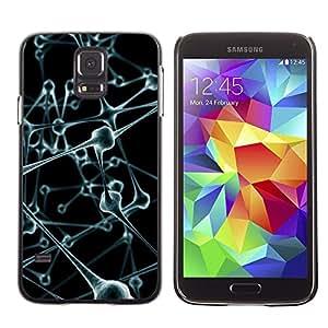 Stuss Case / Funda Carcasa protectora - Molecules Anatomy Human Body Art Modern - Samsung Galaxy S5 SM-G900