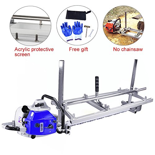 Cutting Chainsaw (Seeutek 36 Inch Chainsaw Mill Lumber Planking Milling Guide Sawmill For Wood Cutting Chainsaw Portable Chain Sawmill (Adjust range 14