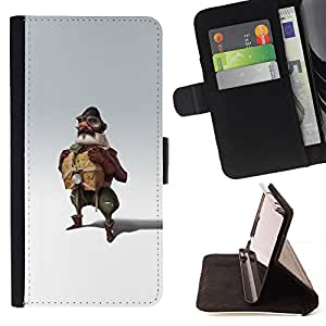 For Sony Xperia Z1 L39 Pilot Man Attire Uniform Art Painting Fly Style PU Leather Case Wallet Flip Stand Flap Closure Cover