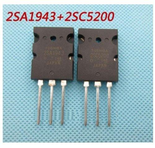 ShineBear 1pair OR 2PCS Transistor TO-3PL 2SA1943-O/2SC5200-O 2SA1943/2SC5200 A1943/C5200