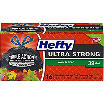 Hefty Ultra Strong Lawn & Leaf Large Trash Bags - 39 Gallon, 16 Count