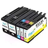 Itari Compatible Ink Cartridges Replacement for HP 950 951 XL Use with OfficeJet Pro 8100 8600 8610 8615 8620 8625 8630 276dw Printer (Updated Chip, 2B + CMY)