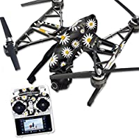 MightySkins Protective Vinyl Skin Decal for Yuneec Q500 & Q500+ Quadcopter Drone wrap cover sticker skins Daisies