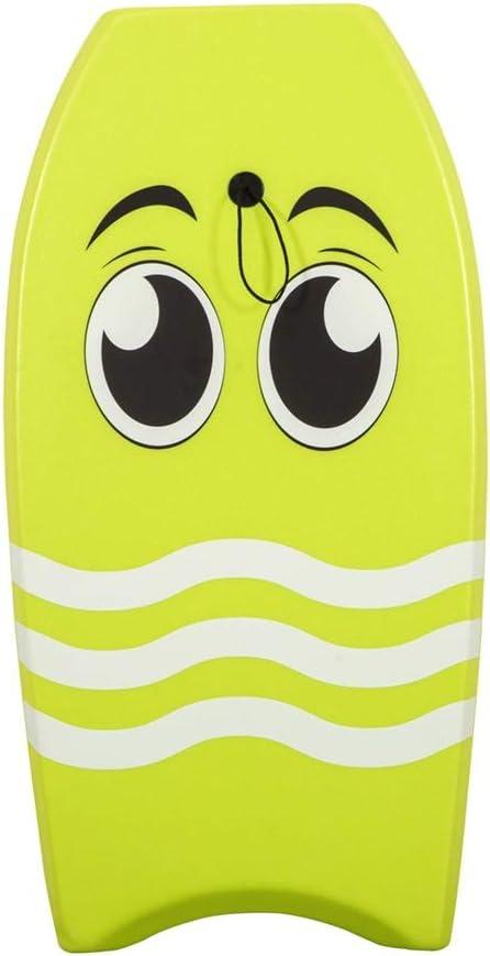 サーフィンボディボード 手首のひもが付いている39インチの滑らかな板夏の浜のサーフィンのボディボードXPE + EPSの中心 (色 : 緑, サイズ : 39 inch) 緑 39 inch