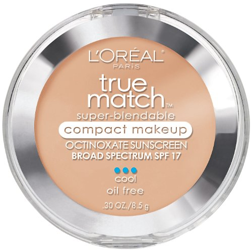 L'Oreal Paris True Match Super-Blendable Compact Makeup, Creamy Natural, 0.30 Ounces (Liquid Cosmetics Vip)