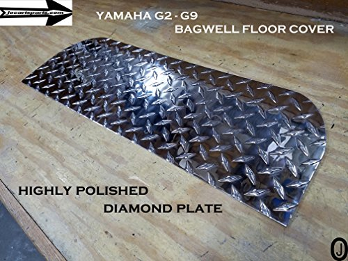 Yamaha G2-G9 Golf Cart Aluminum Diamond Plate Bagwell Floor AND No Step Cover ()