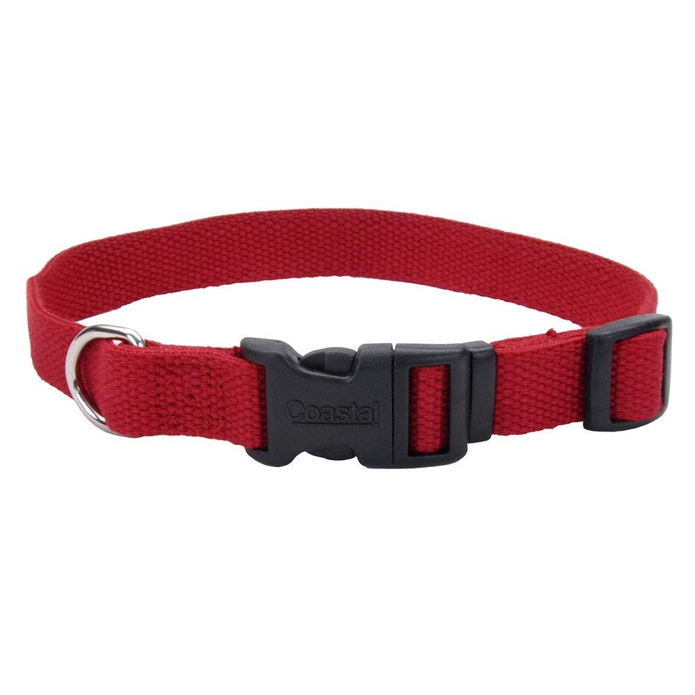 New Earth Soy Dog Collar Three eighths inch x 6-8inch CRANBERRY by Coastal Pet