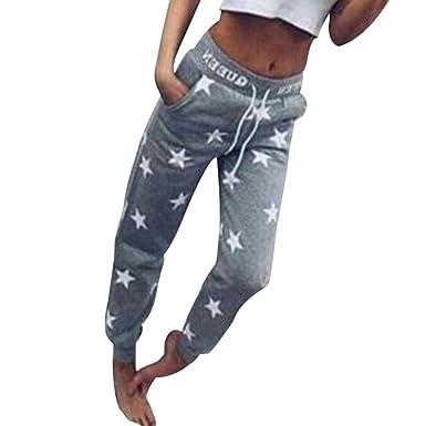Donna Abbigliamento Donna Moda Pantaloni Confortevole Vita Elastica Pantaloni Lunghi Donna Casuale Pantaloni a Vita Alta Leggings Pants per Sport Palestra Fitness Esercizio Tre Colori