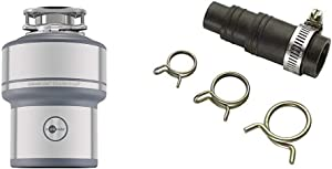 InSinkErator Garbage Disposal, Evolution Excel, 1.0 HP Continuous Feed & DWC-00 Dishwasher Connector Kit, Black