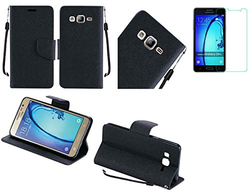 Cheap Flip Cases Tempered Glass+PU Leather Flip Wallet Case Cover w/Card Storage and Strap [Full..