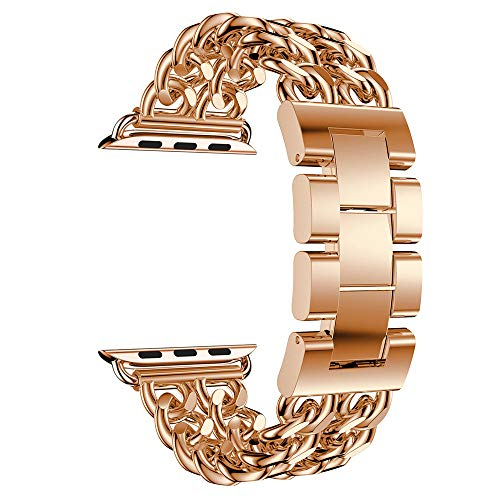 Accessory for Apple Watch Serise 4!!!Kacowpper New Fashion Double Row Cowboy Chain Metal Watch Band for Apple Watch Series 4 44mm!!Halloween Hot Sale!!!