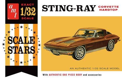 AMT 1112 1963 Corvette Stingray Hardtop 1:32 Scale Plastic Model Kit - Requires Assembly