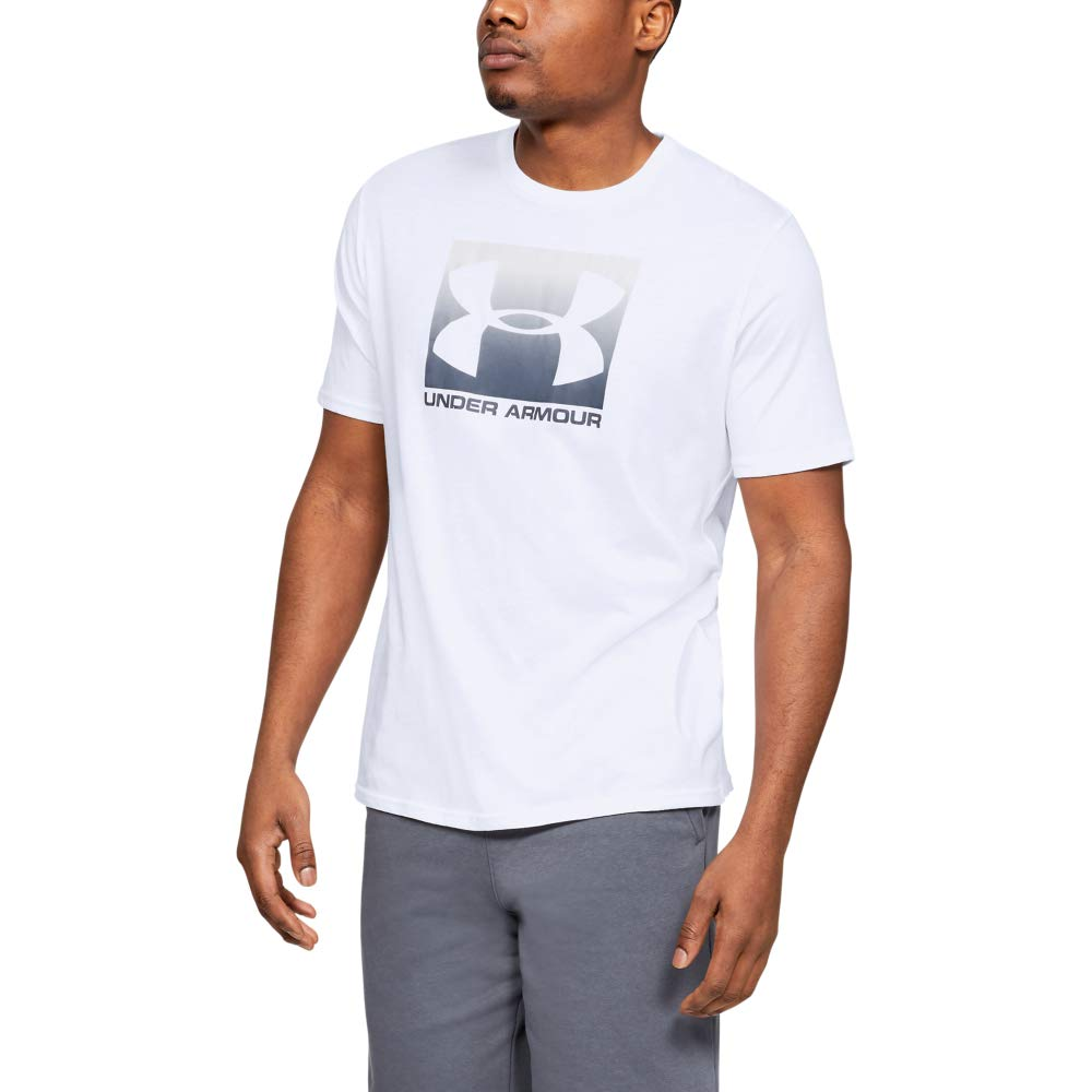 Under Armour Men's Boxed Sportstyle Short Sleeve Shirt, White (101)/Halo Gray, Medium by Under Armour