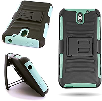 low priced 991be 713cb HTC Desire 610 Holster Case (Teal/Black) Heavy Duty Belt Clip Protective  Hybrid Phone Cover for HTC Desire 610