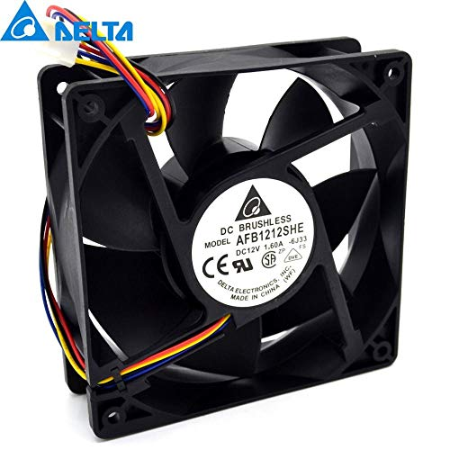 - New AFB1212SHE 12038 12cm 1.6A 12v 4wire PWM 40cm Long Line of Fan for Delta 12012038mm 5pcs Lot