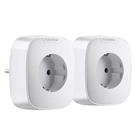 Inteligente enchufe Alexa WiFi enchufe Pack de 2, 16 A, 3680 W, Consumo