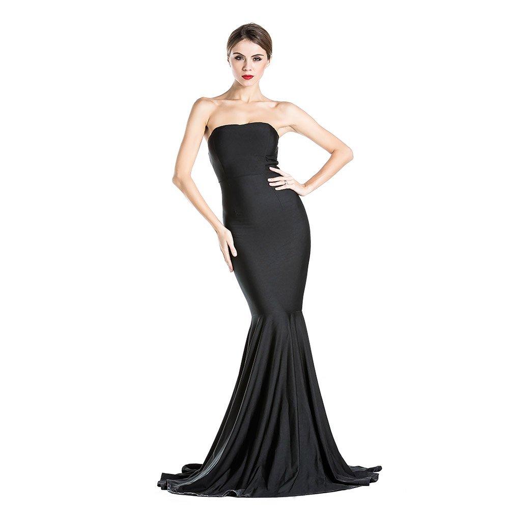 Women's Sleeveless Bra Mermaid Party Dress Large Black