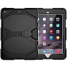 "Case for New iPad 9.7"" 2017, [Kickstand] Shockproof Heavy Duty Rugged Hybrid Kickstand Protective Case for iPad Apple New iPad 9.7-inch"