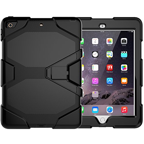 NEW ipad 9.7 2017 case ,Bingcok Heavy Duty Shockproof Three Layer Hard PC+Silicone Hybrid High Impact Resistant Defender Full Body Protective Case