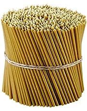 Danilovo Ritual Kaarsen 100% bijenwas (geel) - Orthodoxe kaarsen voor gebed tafeldecoratie bruiloft - niet giftig, roet - druppelvrij, duurzame producten, N140, hoogte: 16 cm, Ø 5 mm