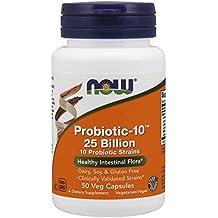 NOW Probiotic-10 25 Billion,50 Veg Capsules