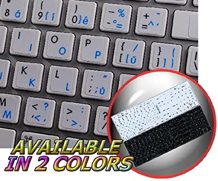 62cecba680f Image Unavailable. Image not available for. Color: MAC CZECH - ENGLISH NON-TRANSPARENT  KEYBOARD STICKER WHITE BACKGROUND ...