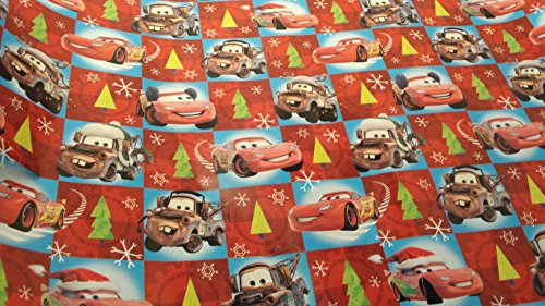 [Christmas Wrapping Pixar Cars Holiday Paper Gift Greetings 1 Roll Design Festive Wrap Red Disney] (Homemade Disney Character Costumes)