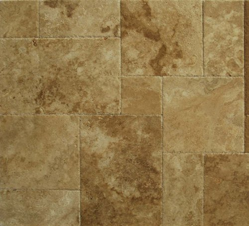 Walnut travertine versailles ashlar pattern tiles unfilled walnut travertine versailles ashlar pattern tiles unfilled brushed chiseled small sample ceramic floor tiles amazon ppazfo