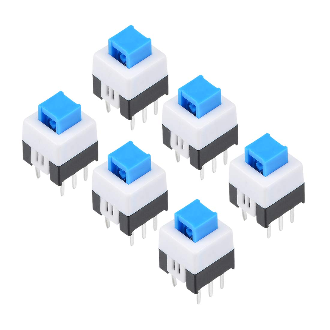 Uxcell 58x58x75mm Pcb Dip Mounting Tact Tactile Push Button Details About Momentary Latching Switch Rectangular Dc Self Lock 6 Pin 10pcs