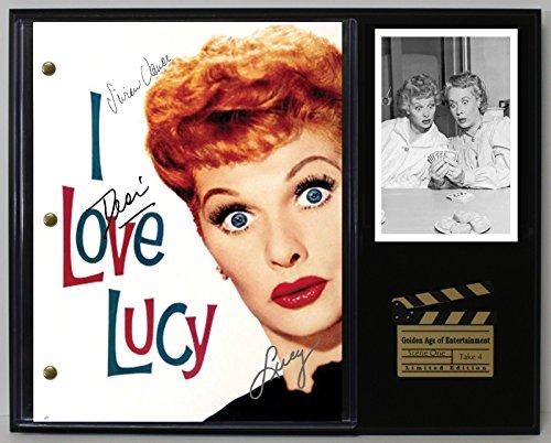 I LOVE LUCY VITAMEATAVEGAMIN LTD EDITION REPRODUCTION TV SCRIPT DISPLAY (Love Reproduction)