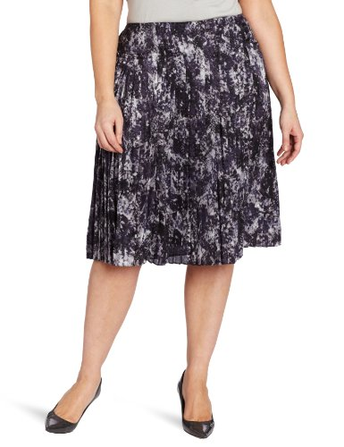 Jones New York Women's Pleated Skirt, Multi, 14W (New York Pleated Skirt)