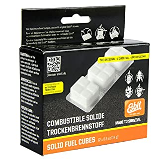 Esbit 1300-Degree Smokeless Solid 14g Fuel Tablets