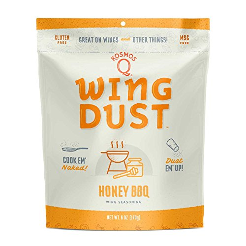 - Kosmos Q Honey Barbecue Wing Dust | MSG & Gluten-Free | Chicken Wing Seasoning | Dry BBQ Rub Spice | 6 oz. Bag