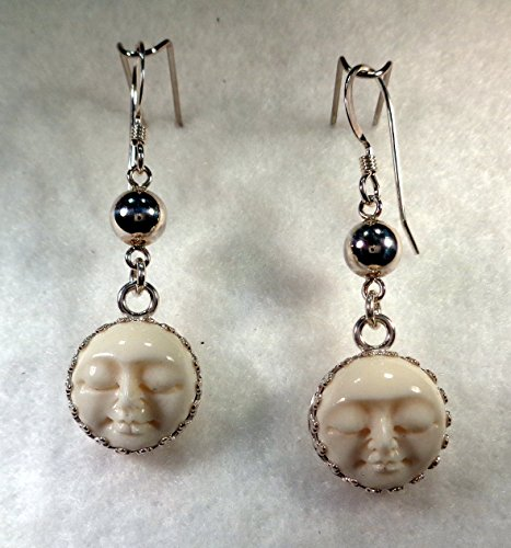 Paula S Design Studio Sterling Silver Carved Bone Moon Face Dangle Earrings From Amazon Daily Mail