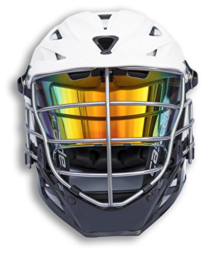 EliteTek LAX Lacrosse Visor Eye Shield fits Cascade Helmets (Clear Orange Sunset Colored, Model 1)