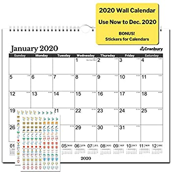 Amazon.com: Calendario de pared de 2020, con pegatinas ...