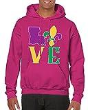 SpiritForged Apparel Love Lousiiana Hooded Sweatshirt, Pink Small